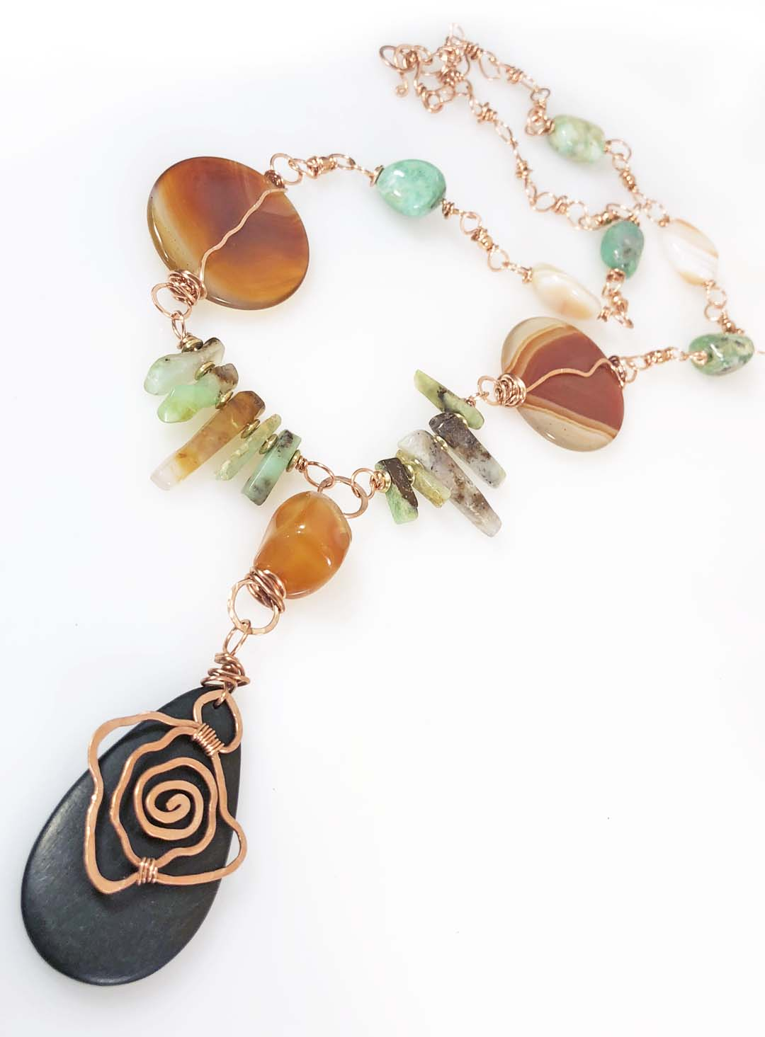 Copper Art Necklace